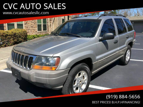 2000 Jeep Grand Cherokee for sale at CVC AUTO SALES in Durham NC