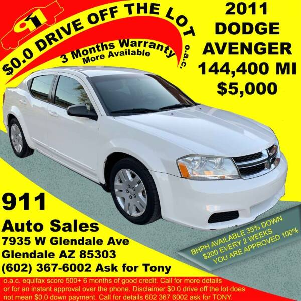 2011 Dodge Avenger for sale at 911 AUTO SALES LLC in Glendale AZ