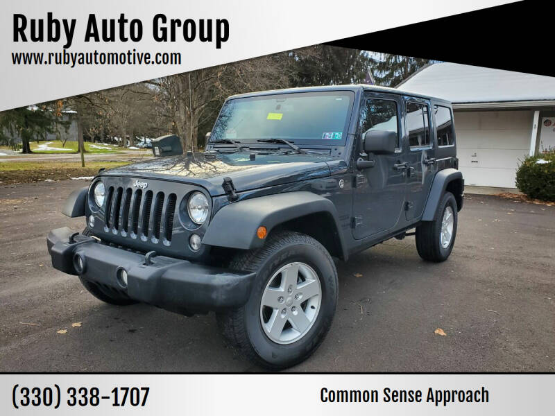 2016 Jeep Wrangler Unlimited for sale at Ruby Auto Group in Hudson OH