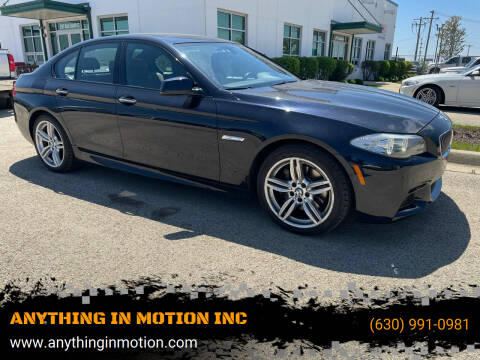 2013 BMW 5 Series for sale at ANYTHING IN MOTION INC in Bolingbrook IL