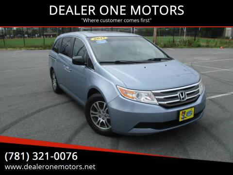 2011 Honda Odyssey for sale at DEALER ONE MOTORS in Malden MA