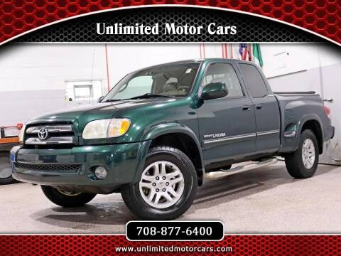 2003 Toyota Tundra for sale at Unlimited Motor Cars in Bridgeview IL