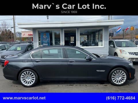 2012 BMW 7 Series for sale at Marv`s Car Lot Inc. in Zeeland MI