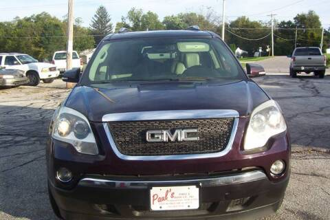 2008 GMC Acadia for sale at PAUL'S PAINT & BODY SHOP in Des Moines IA