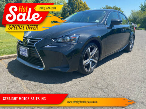 2017 Lexus IS 300 for sale at STRAIGHT MOTOR SALES INC in Paterson NJ