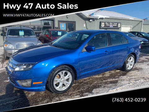 2012 Ford Fusion for sale at Hwy 47 Auto Sales in Saint Francis MN