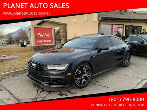 2016 Audi A7 for sale at PLANET AUTO SALES in Lindon UT