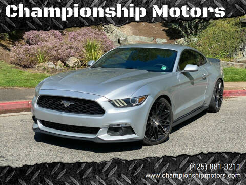 2015 Ford Mustang for sale at Championship Motors in Redmond WA