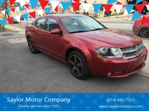 2008 Dodge Avenger for sale at Saylor Motor Company in Somerset PA