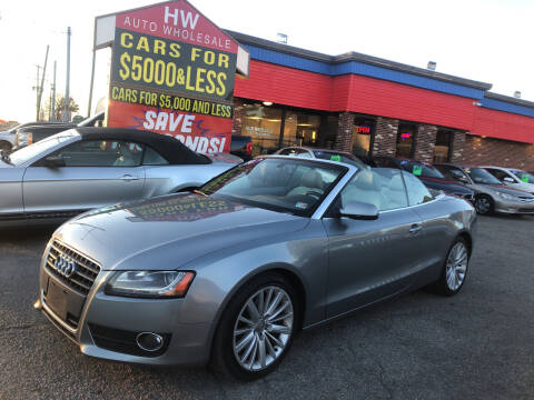 2010 Audi A5 for sale at HW Auto Wholesale in Norfolk VA