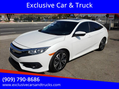 2017 Honda Civic for sale at Exclusive Car & Truck in Yucaipa CA