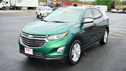 2018 Chevrolet Equinox for sale at Ricks Auto Sales, Inc. in Kenton OH