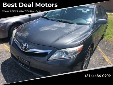 2011 Toyota Camry Hybrid for sale at Best Deal Motors in Saint Charles MO