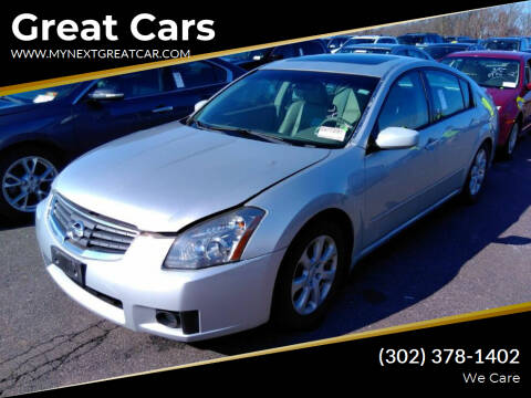 2007 Nissan Maxima for sale at Great Cars in Middletown DE