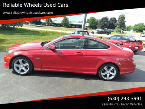 2012 Mercedes-Benz C-Class for sale at Reliable Wheels Used Cars in West Chicago IL