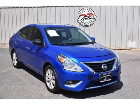 2015 Nissan Versa for sale at Chaparral Motors in Lubbock TX