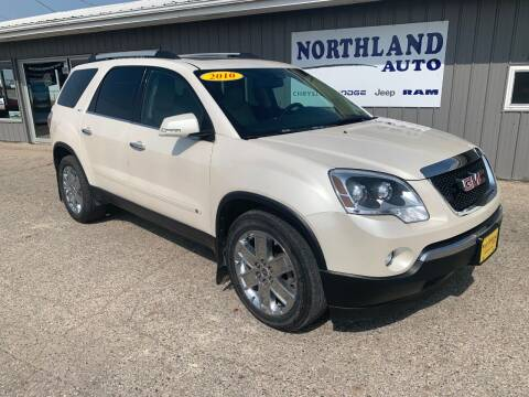2010 GMC Acadia for sale at Northland Auto in Humboldt IA