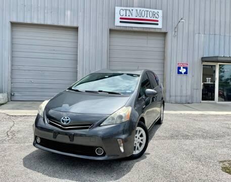 2012 Toyota Prius v for sale at CTN MOTORS in Houston TX