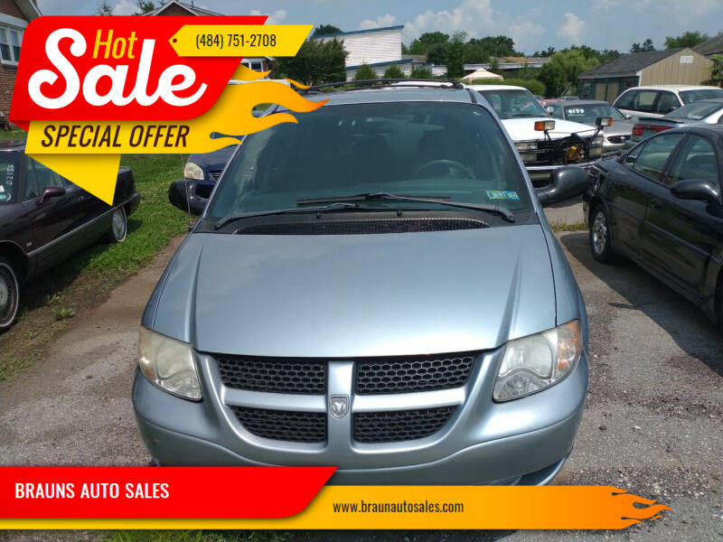 2004 Dodge Grand Caravan for sale at BRAUNS AUTO SALES in Pottstown PA