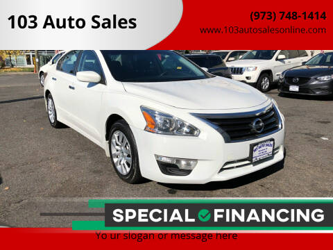 2015 Nissan Altima for sale at 103 Auto Sales in Bloomfield NJ