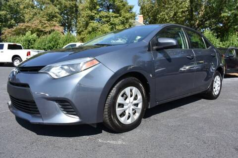 2014 Toyota Corolla for sale at Apex Car & Truck Sales in Apex NC