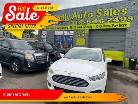 2015 Ford Fusion for sale at Friendly Auto Sales in Detroit MI