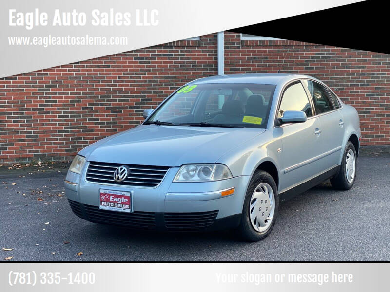 2003 Volkswagen Passat for sale at Eagle Auto Sales LLC in Holbrook MA