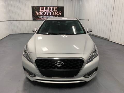 2016 Hyundai Sonata Hybrid for sale at Elite Motors in Uniontown PA