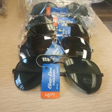 Clear View Sunglasses for sale at BENHAM AUTO INC - Peace of Mind Treasures and More Store in Lubbock TX