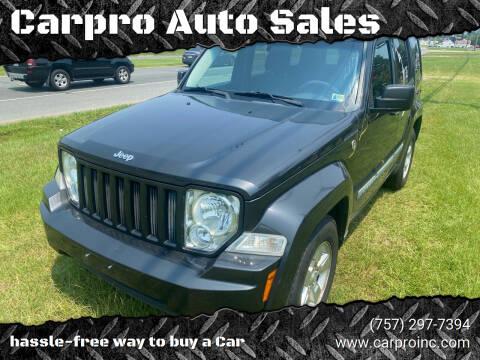 2010 Jeep Liberty for sale at Carpro Auto Sales in Chesapeake VA