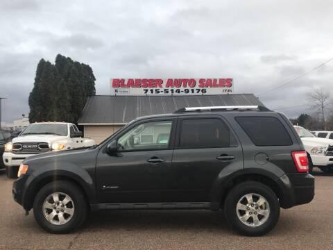 2010 Ford Escape Hybrid for sale at BLAESER AUTO LLC in Chippewa Falls WI