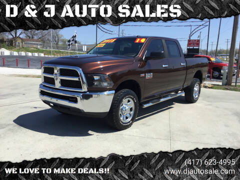 2014 RAM Ram Pickup 2500 for sale at D & J AUTO SALES in Joplin MO