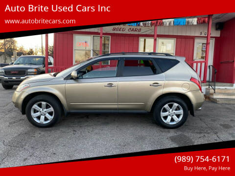 2007 Nissan Murano for sale at Auto Brite Used Cars Inc in Saginaw MI