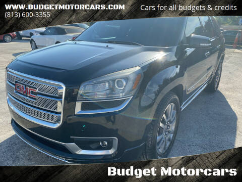 2013 GMC Acadia for sale at Budget Motorcars in Tampa FL