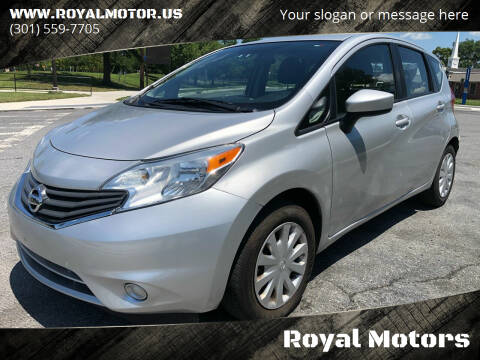2015 Nissan Versa Note for sale at Royal Motors in Hyattsville MD