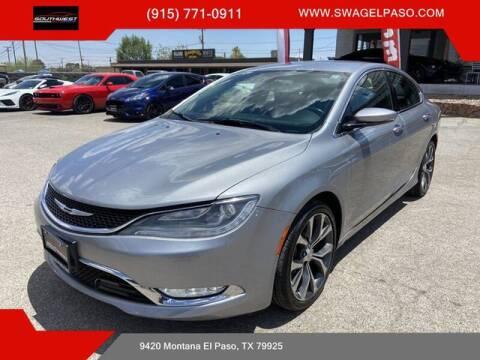 2015 Chrysler 200 for sale at SOUTHWEST AUTO GROUP-EL PASO in El Paso TX