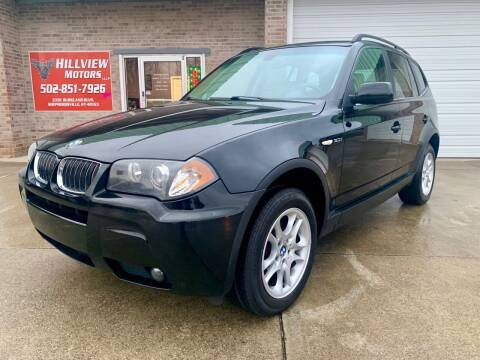 2006 BMW X3 for sale at HillView Motors in Shepherdsville KY