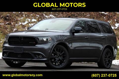 2016 Dodge Durango for sale at GLOBAL MOTORS in Binghamton NY