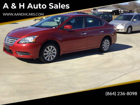 2014 Nissan Sentra for sale at A & H Auto Sales in Greenville SC