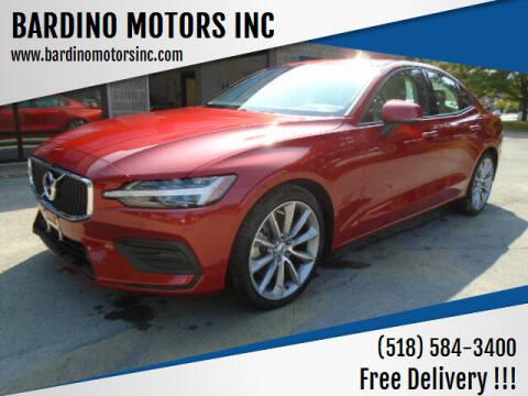 2020 Volvo S60 for sale at BARDINO MOTORS INC in Saratoga Springs NY