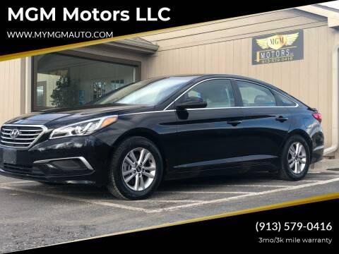 2016 Hyundai Sonata for sale at MGM Motors LLC in De Soto KS