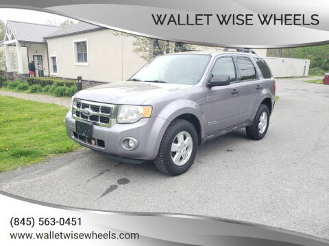 2008 Ford Escape for sale at Wallet Wise Wheels in Montgomery NY