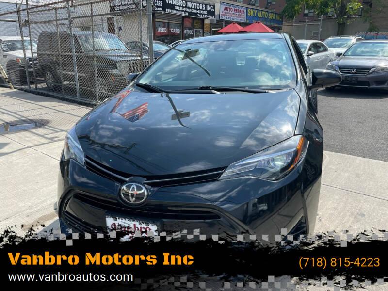2017 Toyota Corolla for sale at Vanbro Motors Inc in Staten Island NY
