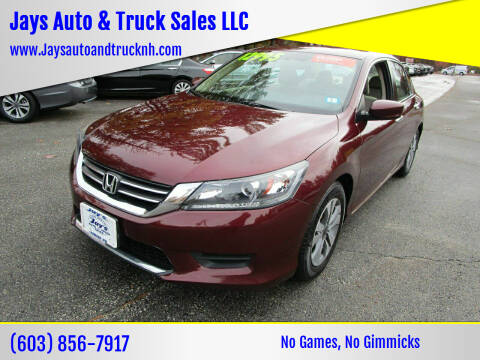 2015 Honda Accord for sale at Jays Auto & Truck Sales LLC in Loudon NH