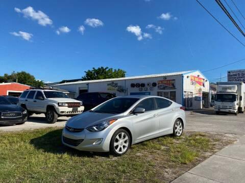 2012 Hyundai Elantra for sale at ONYX AUTOMOTIVE, LLC in Largo FL