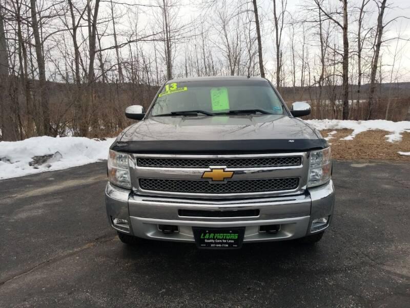 2013 Chevrolet Silverado 1500 for sale at L & R Motors in Greene ME