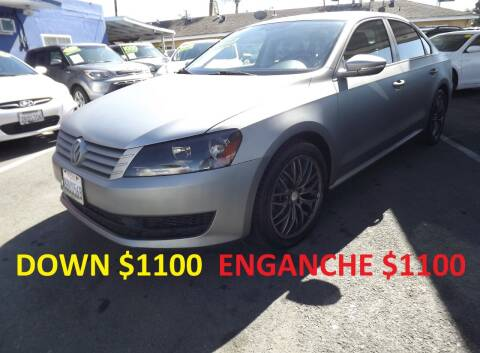 2012 Volkswagen Passat for sale at PACIFICO AUTO SALES in Santa Ana CA