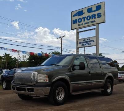 2000 Ford Excursion for sale at 4 U MOTORS in El Paso TX
