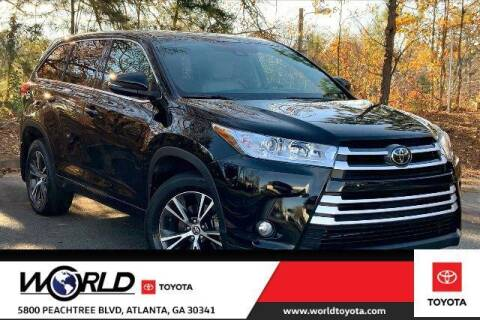 2017 Toyota Highlander for sale at CU Carfinders in Norcross GA