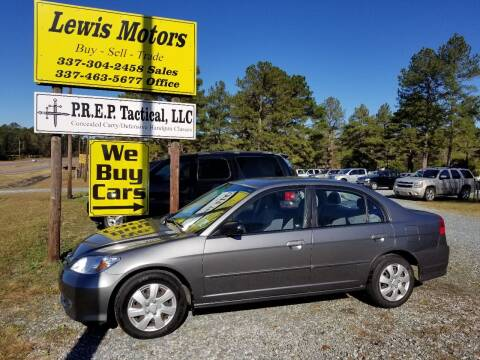 2004 Honda Civic for sale at Lewis Motors LLC in Deridder LA